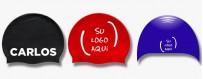 Gorros de natación personalizados de silicona